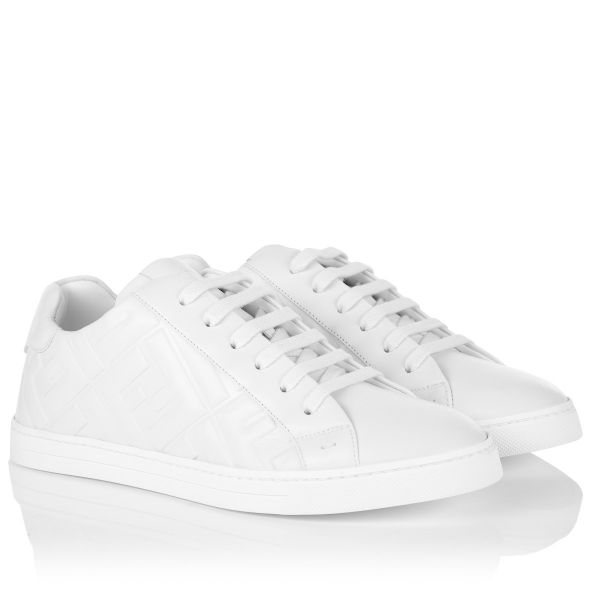 Fendi Low Top Nappa Leather Sneaker