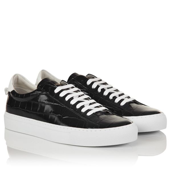 Givenchy Crocodile Effect Leather Sneakers