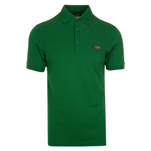 Dolce & Gabbana Logo Plaque Cotton Polo