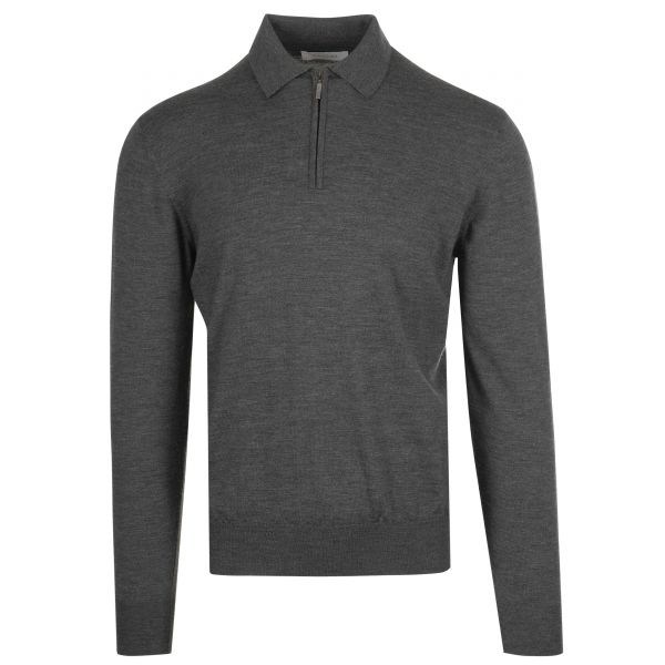 Cruciani Long Sleeve Zip Polo Knitwear
