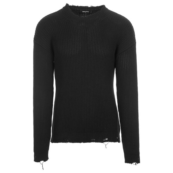 DSquared2 Logo Chunky Knit Destroyed Knitwear