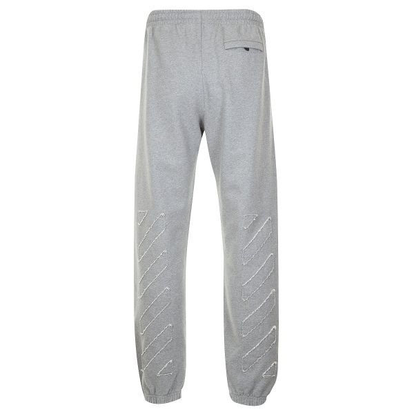 Off White Distressed Track Pants